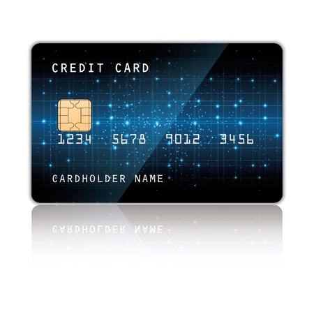 credit card. Illustration