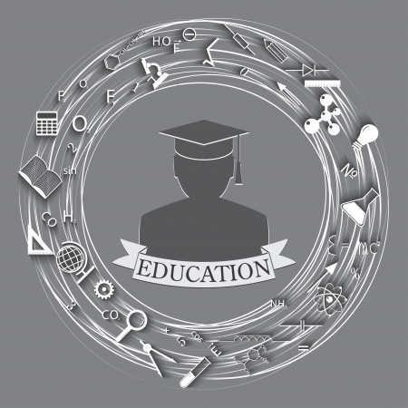 undergraduate: education abstract background.