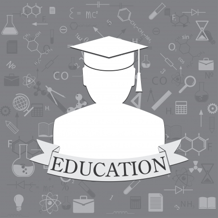 undergraduate: education background. icons education.  Illustration