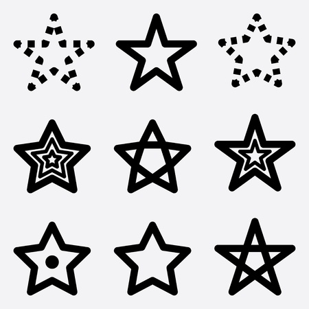 asterisk: collection of icons stars.