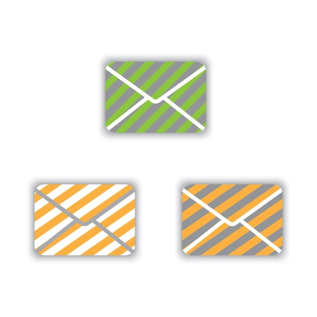 striped color icons envelopes. Stock Vector - 21036141