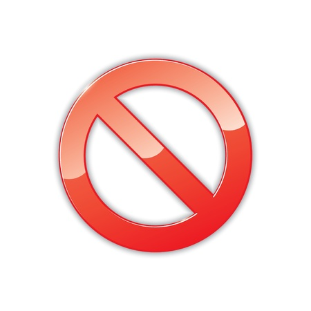 icon of prohibition sign.  Vector