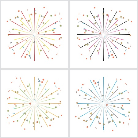 fireworks isolated on white. Stock Vector - 21572266