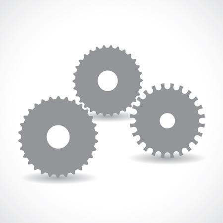 gears.  Vector