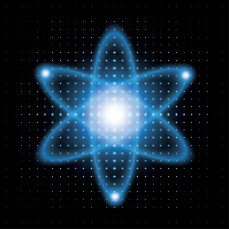 electrons: atomic model. background.