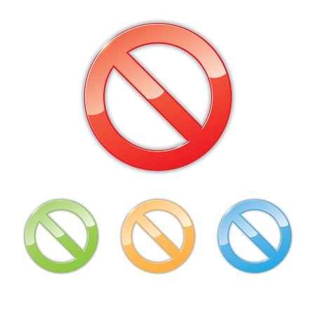 set of color prohibition signs. Stock Vector - 21572290
