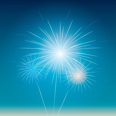 festive fireworks in the blue sky. Stock Vector - 21572303