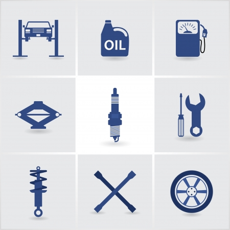 car service icons set 1.  Vector