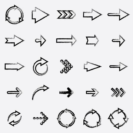 freccia destra: disegnando frecce. Vettoriali
