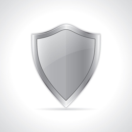 buckler: icon of security shield.  Illustration