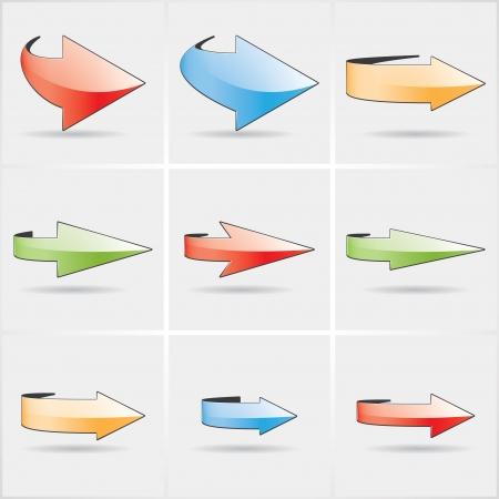 flecha derecha: flechas circulares de color.