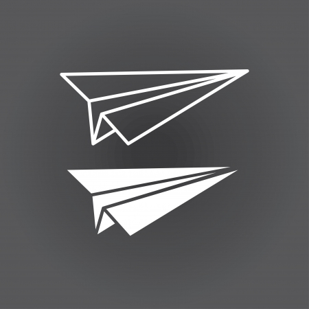 airplane cartoon: icon paper airplane. vector. eps8 Illustration