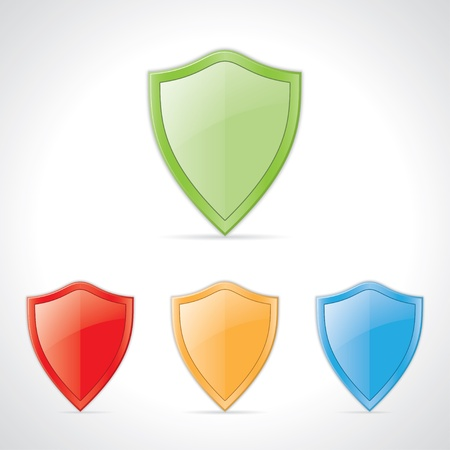 buckler: colored icons of security shields.