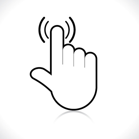 depress: hand icon pointer