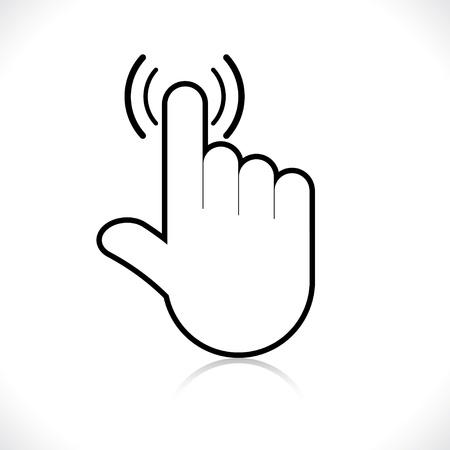 dedo apuntando: Icono de la mano puntero Vectores