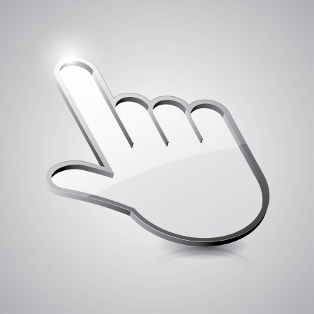icon of hand cursor Vector