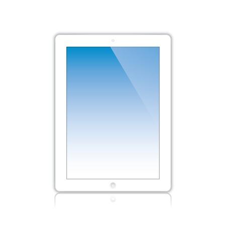 white computer tablet touchscreen. Stock Vector - 21951790