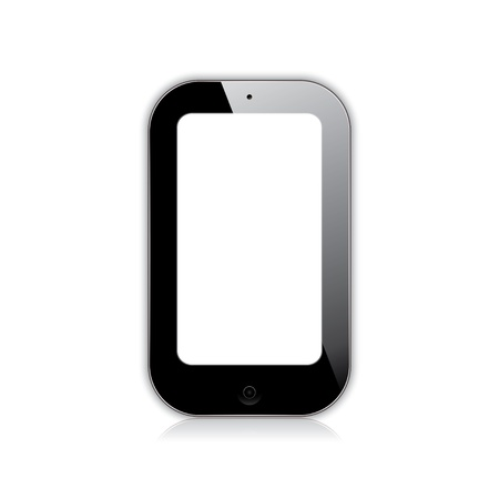 illustration of a mobile phone black.  Vector