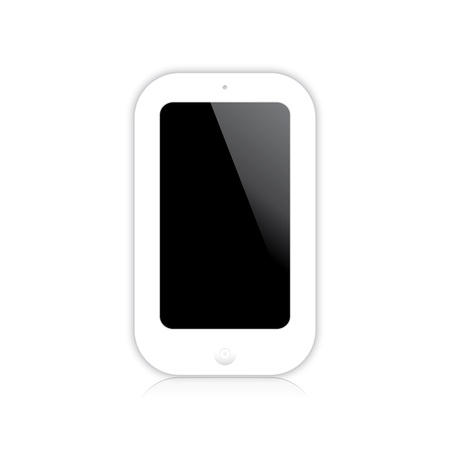 illustration of a mobile phone white.  Stock Vector - 22719611
