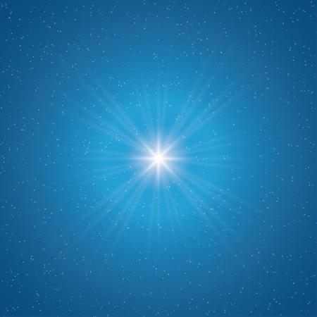 shining star in the sky.  Vector