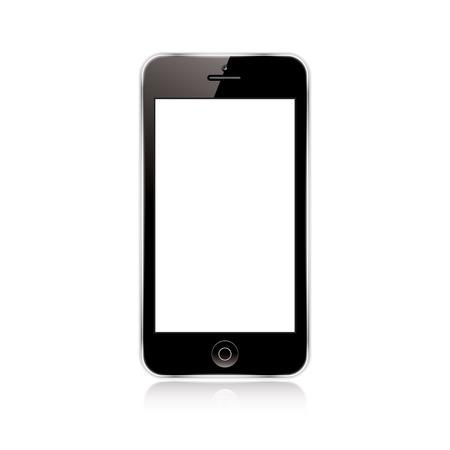 vector illustration of a mobile phone black. eps10