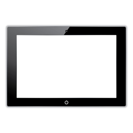 black computer tablet touchscreen. vector realistic illustration. vector eps10 Vector