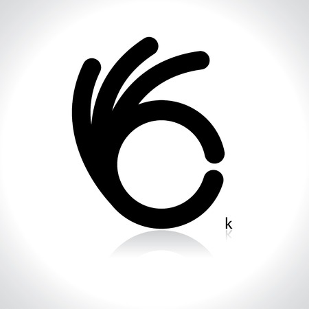 ok hand: icon of ok. vector eps8 Illustration