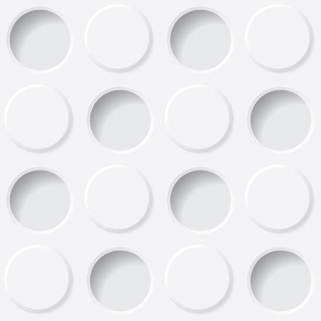 white circles texture. seamless background. vector eps10 Vector