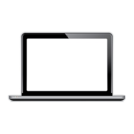 a laptop: laptop (netbook). vector realistic illustration. vector eps10