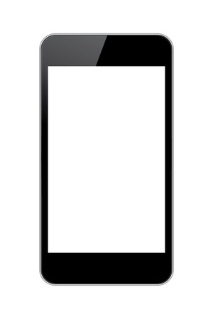 mobile phone black with white blank screen. vector eps10 Stock Vector - 23206659