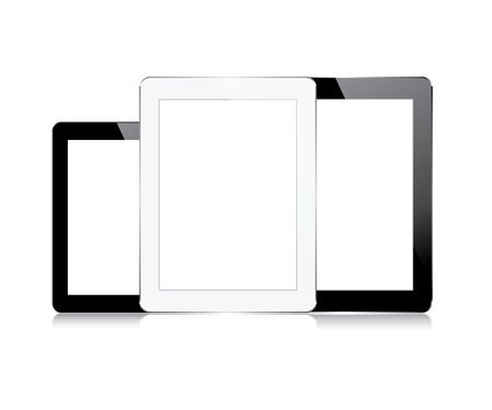 set computer tablets touchscreen. vector illustration. eps10 Stock Vector - 23206658
