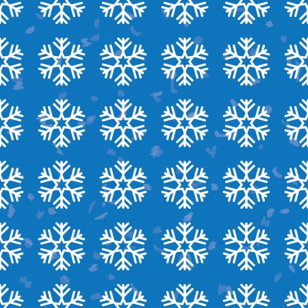 christmas background blue color. pattern of snowflakes. Vector