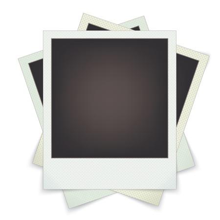 foto: set photo frames. vector templates for design.