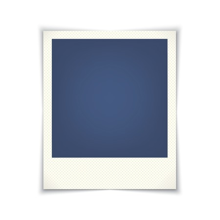 blank photo frame. vector template for design.  Vector