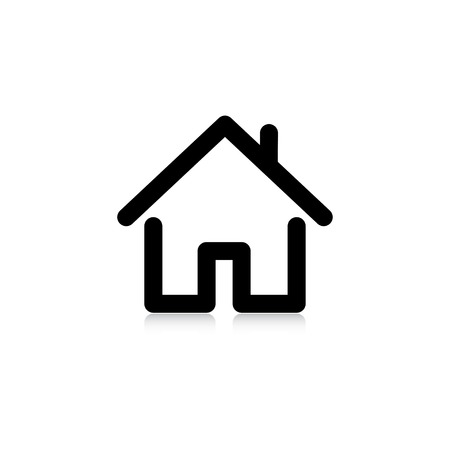 roofing: house with a pipe. icon.