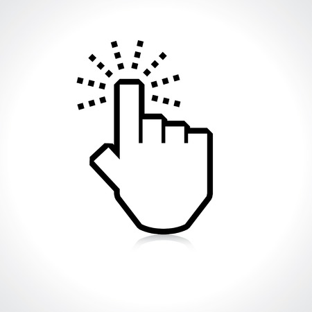 click hand: click. hand icon pointer.