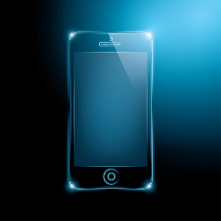 abstract dark smartphone. vector illustration.