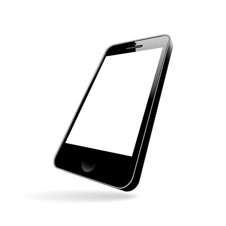 smartphone black. perspective view. vector illustration Stock Vector - 23647112