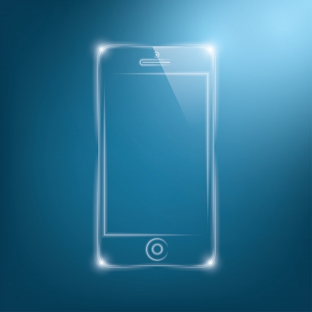 abstract dark background with transparent smartphone.  Vector