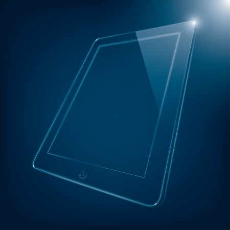 abstract illustration of computer tablet.  Vector