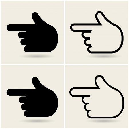 hands icons pointers. Vector