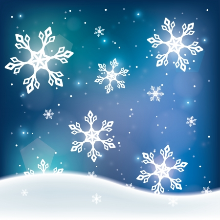 snowfall  winter blue background  vector illustration  eps10