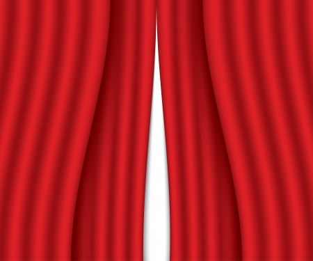 ajar red curtain  vector illustration  eps10 Stock Vector - 23902408