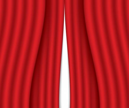ajar red curtain  vector illustration  eps10 Stock Vector - 23902408