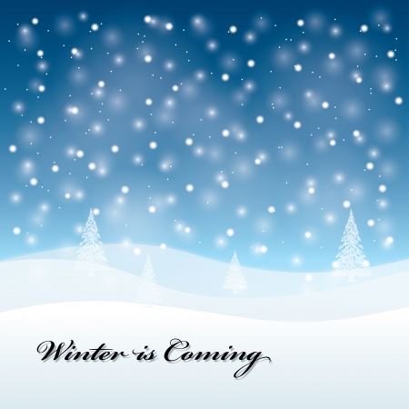 winter is comig. Christmas greeting card. vector illustration. eps10 Vector