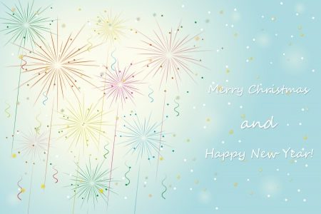 fireworks. merry xmas and happy new year background. vector eps10 Stock Vector - 24160293