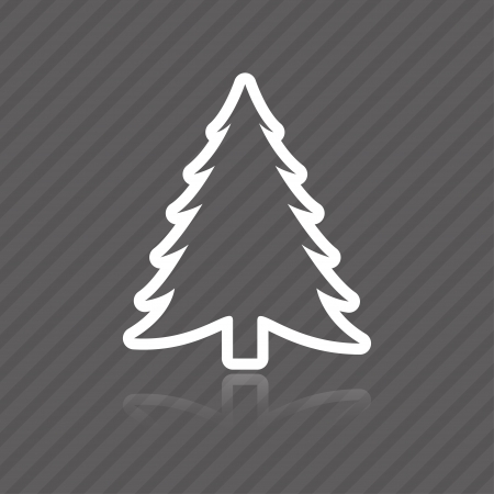 tree outline: fir tree icon.