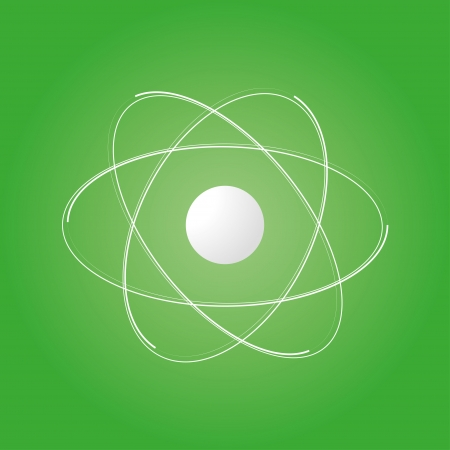 icon of the atomic model. eps8 Illustration