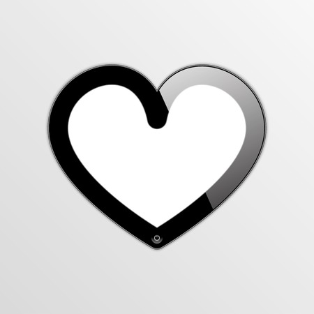 digitizer: smartphone - smart heart. vector frame.