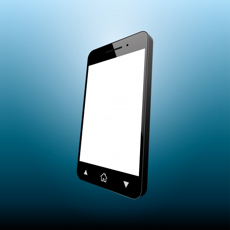 multitask: smartphone black. perspective view. vector illustration